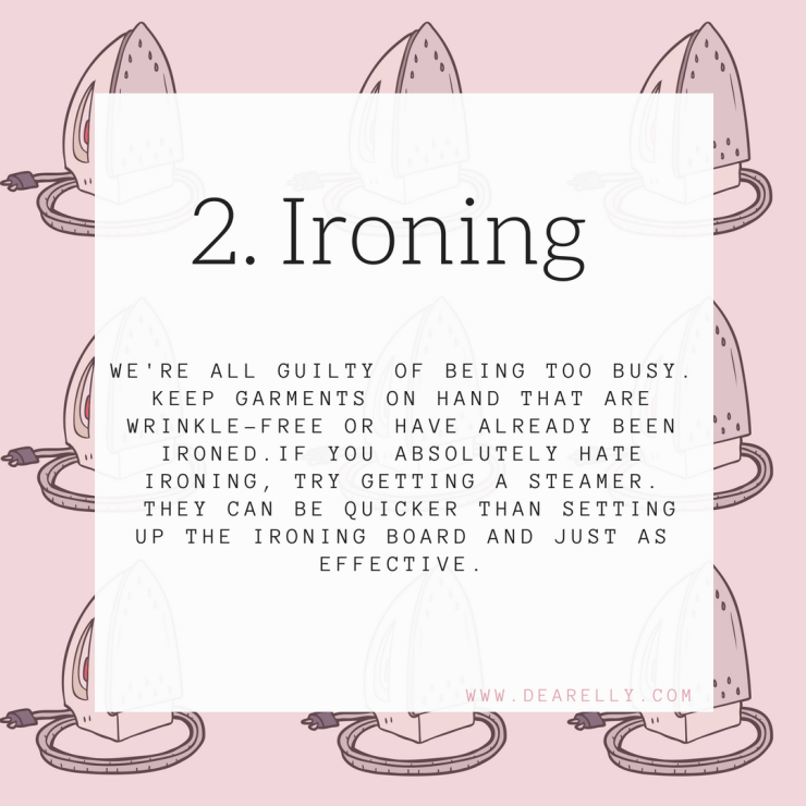 Ironing your work outfit