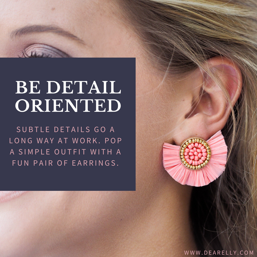 Raffia Fan Earrings For Work