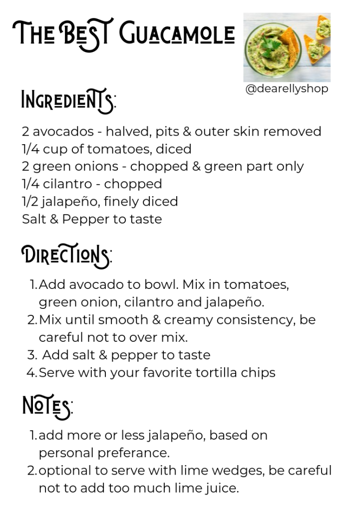 The Best Guacamole Recipe for Dear Elly Happy Hour